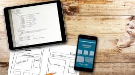 bigstock Website Wireframe Sketch And P 82889510