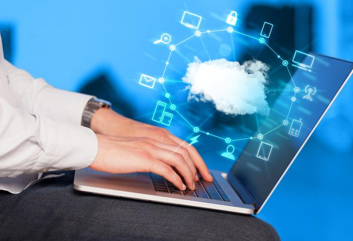 bigstock Hand working with a Cloud Comp 85962548