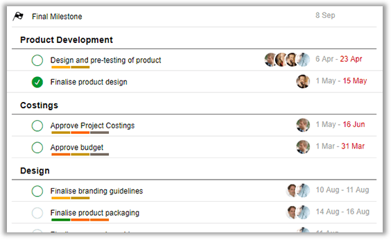 Project management for company intranet | Glasscubes